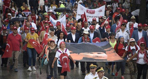 Ahmet Eyüpoğlu, Atatürk ve İstiklal Yolu Yürüyüşüne Katıldı