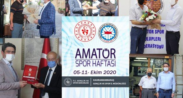 AMATÖR SPOR HAFTASI KAPSAMINDA SPOR EMEKTARLARI ZİYARET EDİLDİ