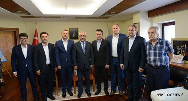 Bosna-Hersek'li Yetkililerden KSÜ Rektörü Deveci'ye Ziyaret