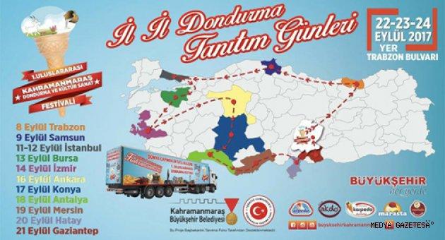 Kahramanmaraş Dövme Dondurma Festivali Gezici TIR'ı İstanbul'da…