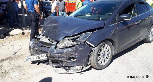 Kahramanmaraş'ta 2 otomobil çarpıştı: 1 ölü, 4 yaralı