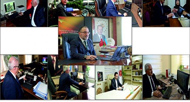 """Kahramanmaraş'ta ilçe belediye başkanları AA'nın """"Yılın Fotoğrafları"""" oylamasına katıldı"""