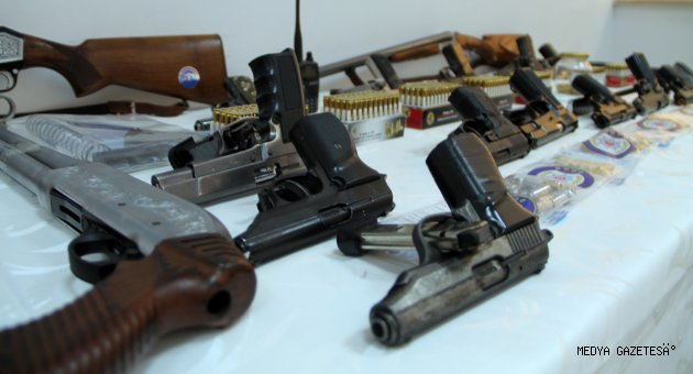 Kahramanmaraş'ta son bir ayda 133 silah ele geçirildi