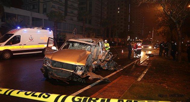 Kahramanmaraş'ta trafik kazası: 1 ölü, 3 ağır yaralı