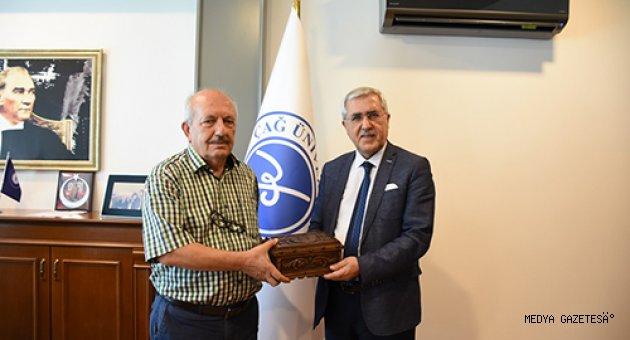 KSÜ Rektörü Can'ın, Çağ Üniversitesi Rektörü Prof. Dr. Ünal Ay'ı Ziyaretinde Üniversitelerarası İşbirliği Konuları Görüşüldü