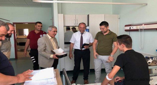 Rektör Can, KSÜ Tıpta Çalışan Personelin ve Tedavi Gören Hastaların Bayramını Kutladı