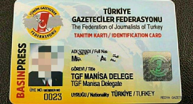 Sabıkalı Sendikacıya TGF'den Basın Tanıtım Kartı verildi