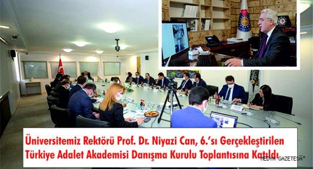 universitemiz rektoru prof dr niyazi can 6 si gerceklestirilen turkiye adalet akademisi danisma kurulu toplantisina katildi http www medyagazetesi com tr